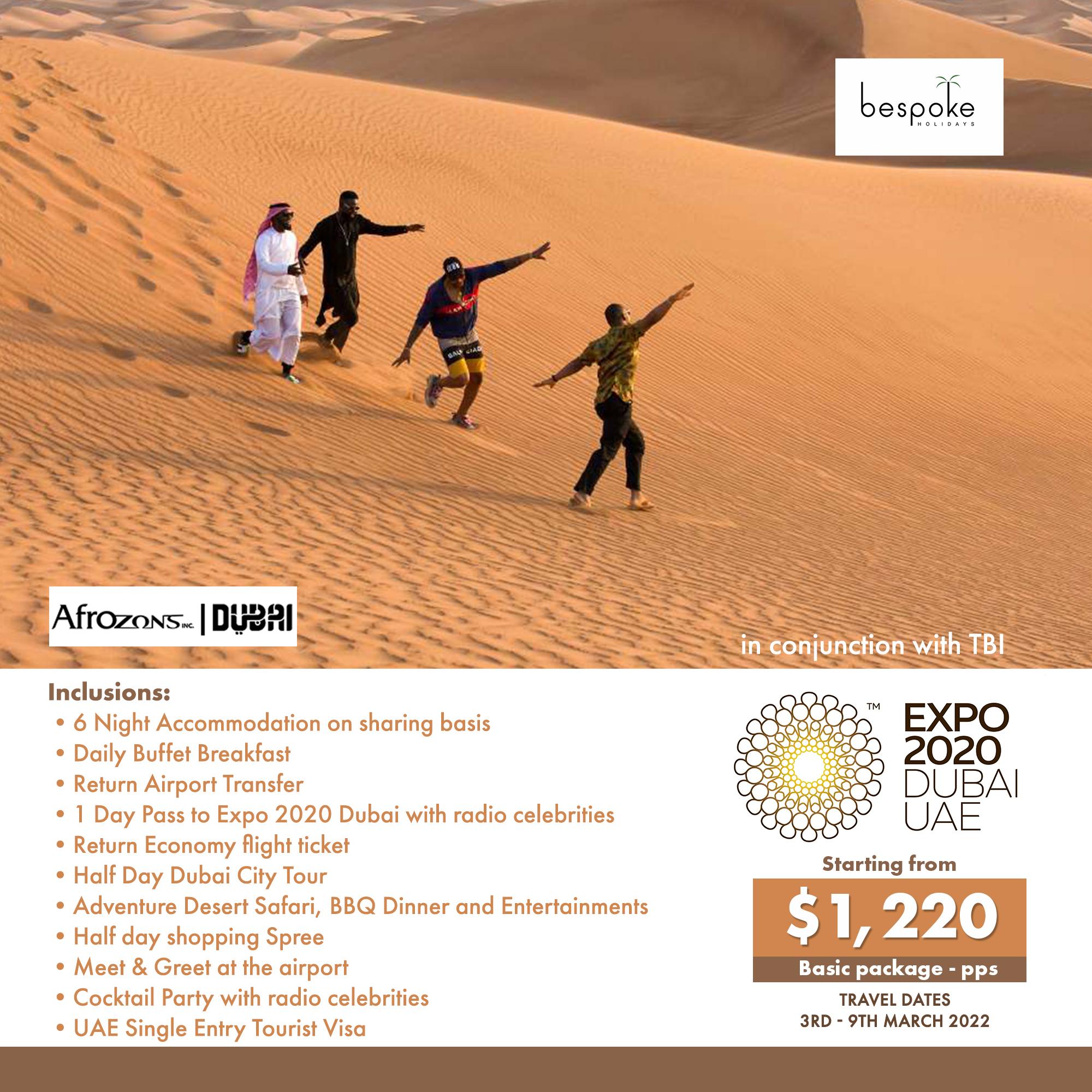 Dubai Afrozone Basic Package